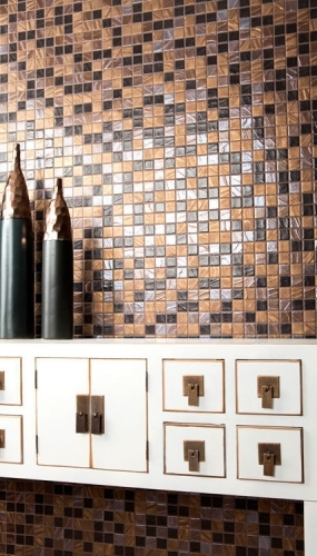 Mozaic din sticla perlata pentru baie si bucatarie