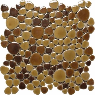 Mozaic maro din marmura Silex Giallo 30 x 30 cm - BLISS ART DESIGN