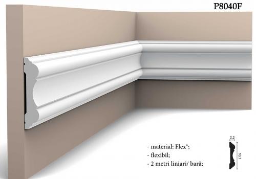 Brau flexibil decorativ Orac Decor P8040F 2 metri lungime / bara