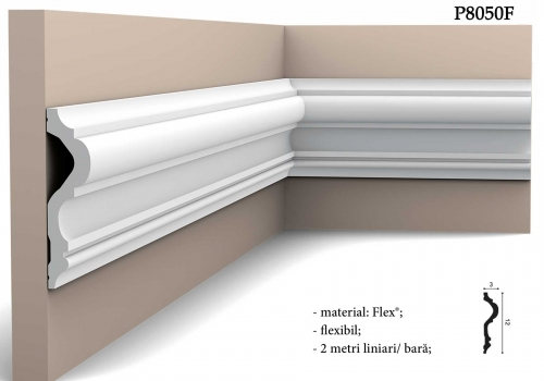 Brau flexibil decor pentru perete Orac P8050F
