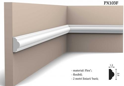 Bagheta alba flexibila Orac Decor PX103F