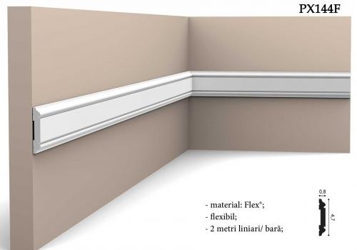 Bagheta alba flexibila pentru perete Orac Decor PX144F