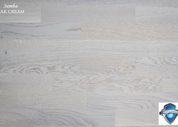 Parchet din lemn triplustratificat STEJARCREAM gama SAMBA productie TARKETT