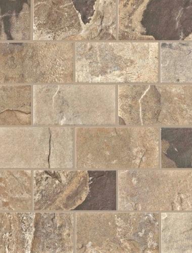 Placa decor gresie cu aspect de mozaic  AUTUMN BRICK