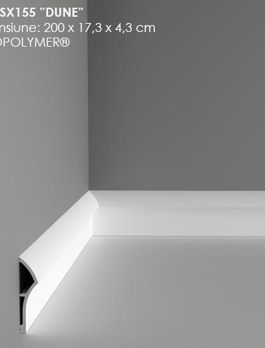 Plinta alba din duropolimer cod SX155 ORAC