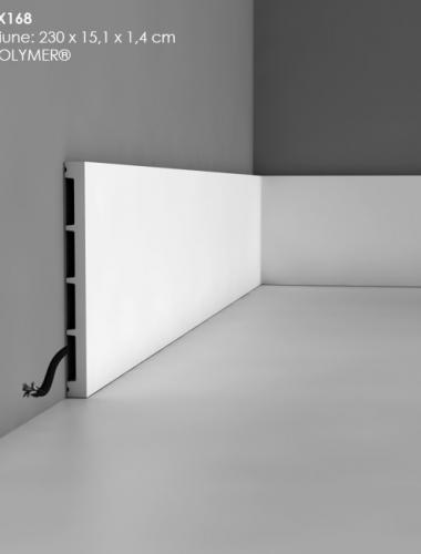 Plinta canal cablu din duropolimer cod DX168