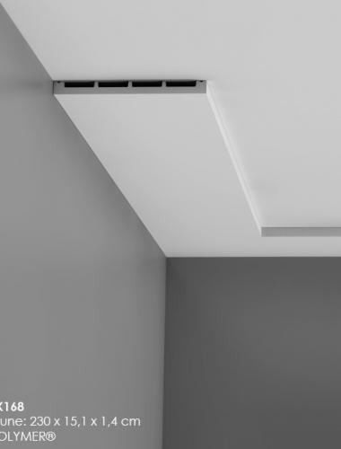 Plinta canal cablu multifunctionala din duropolimer cod DX168 tavan