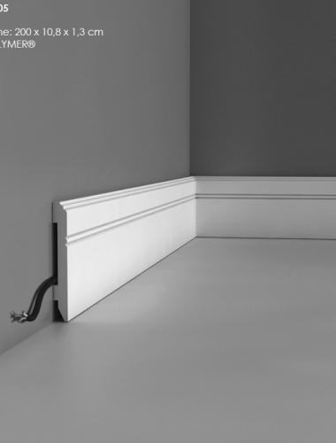 Plinta flexibila canal cablu din duropolimer ORAC cod SX105