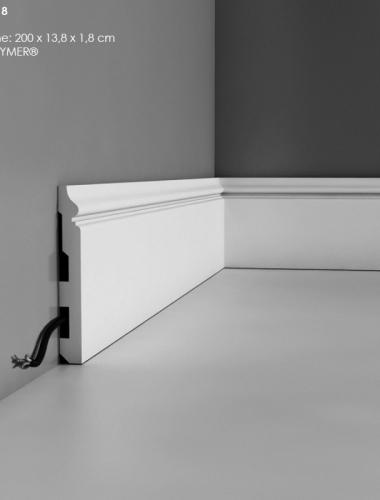Plinta flexibila canal cablu duropolimer ORAC cod SX118