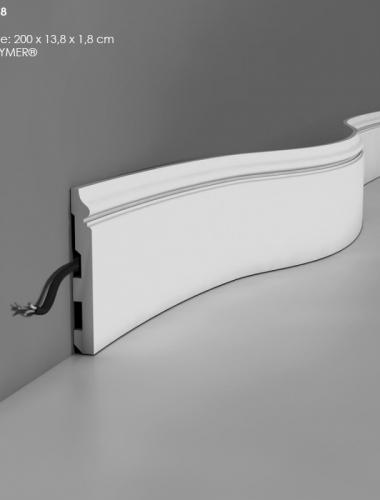 Plinta flexibila din duropolimer cu canal cablu ORAC cod SX118
