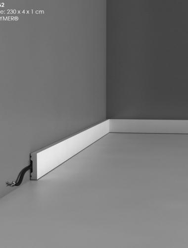 Plinta multifunctionala canal cablu din duropolimer cod DX162