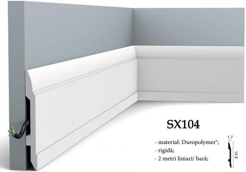 Plinta alba canal cablu Orac Decor SX104