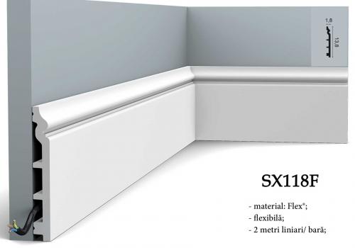 Plinta alba canal cablu Orac Decor SX118F