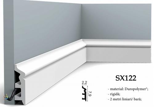 Plinta eleganta alba Orac Decor SX122
