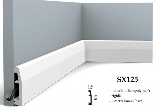 Plinta moderna canal cablu Orac Decor SX125