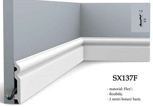 Plinta alba flexibila duropolimer Orac Decor SX137F