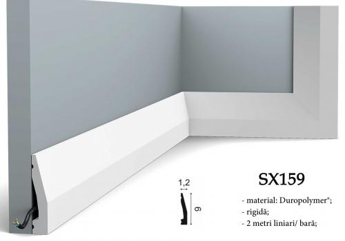 Plinta Orac alba canal cablu SX159