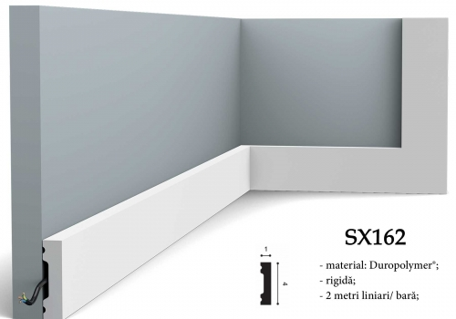 Plinta alba decorativa Orac SX162