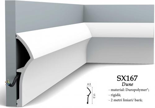 Plinta eleganta alba Orac SX167