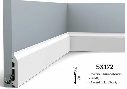 Plinta alba duropolimer canal cablu Orac Decor SX172