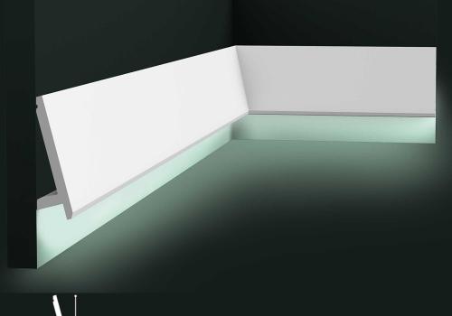 Plinta duropolimer cu banda LED Orac Decor