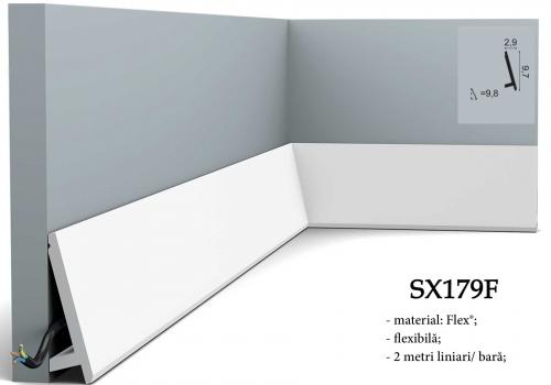 Plinta flexibila canal cablu Orac SX179F