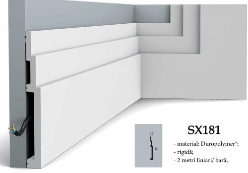 Plinta alba design modern Orac SX181