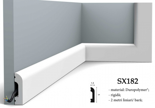 Plinta decorativa alba duropolimer Orac SX182
