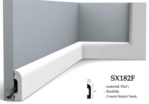 Plinta alba duropolimer canal cablu Orac SX182F