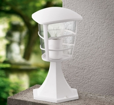 Stalp alb iluminat exterior curte si gradina Eglo 93096 ALORIA  - BLISS ART DESIGN -