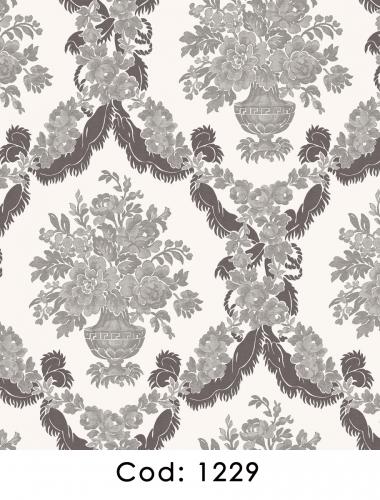 Tapet-alb-negru-stil-baroc-pentru-dormitor-si-living-gama-CARLOTTA-cod-1229