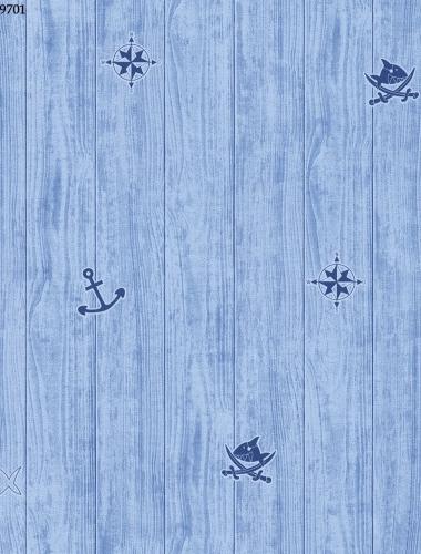 Tapet albastru pentru copii  gama VILLA COPENRATH