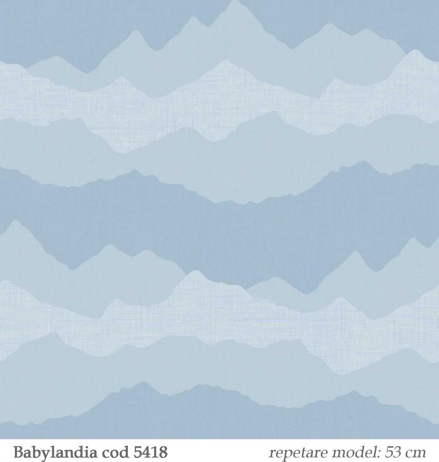 Tapet-albastru-pentru-copii-model-nori--gama-Babylandia-cristiana-masi-cod-5418
