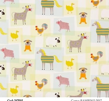 Tapet-animalute-colorate-pentru-copii-gama-BAMBINO-2017-cod-247015