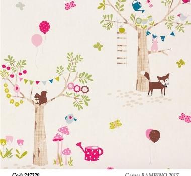 Tapet-animalute-colorate-pentru-copii-gama-BAMBINO-2017-cod-247220