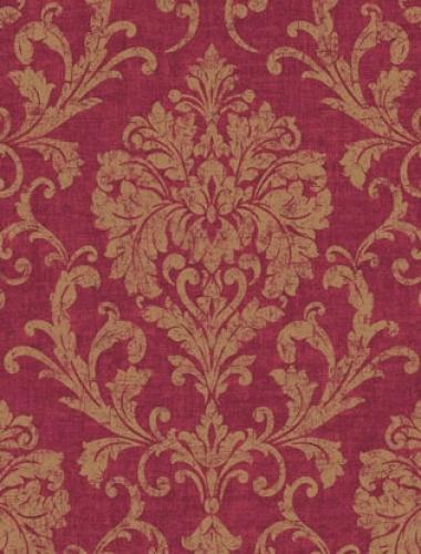 Tapet baroc rosu inchis Villa Medici cod VMB-007-08-1