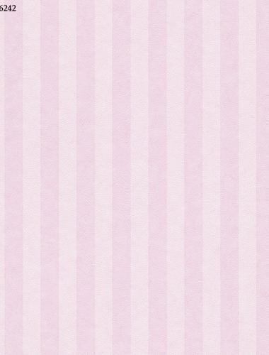 Tapet cu dungi roz pentru copii gama VILLA COPENRATH