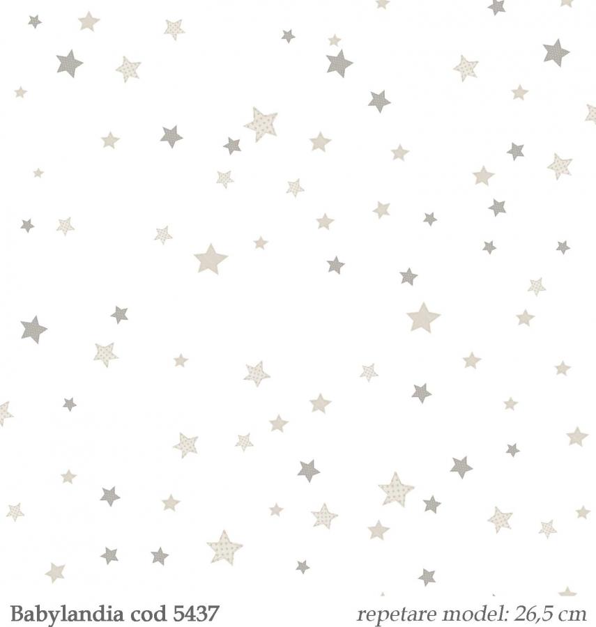 Tapet-copii-stelute-bej--gama-Babylandia-cristiana-masi-cod-5437