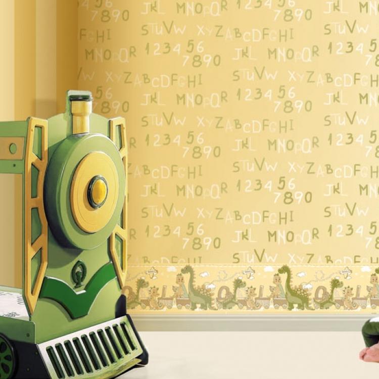 Tapet lavabil cu cifre pentru copii gama BIM BUM BAM