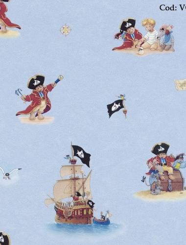 Tapet cu marinari pentru copii gama VILLA COPENRATH
