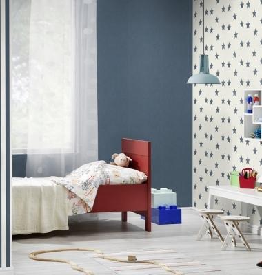 Tapet-cu-stelute-albastre-pentru-copii-gama-BAMBINO-2017-productie-RASCH