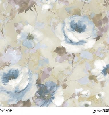 Tapet-cu-trandafiri-albastri-gama-FIBRA-Cristiana-Masi-cod-9006