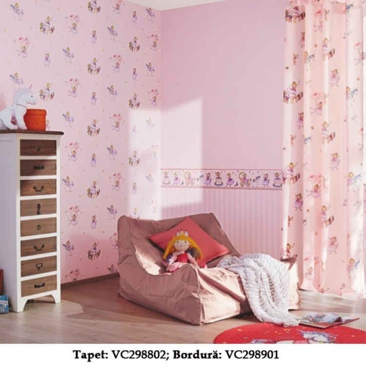 Tapet roz pentru fetite gama VILLA COPENRATH