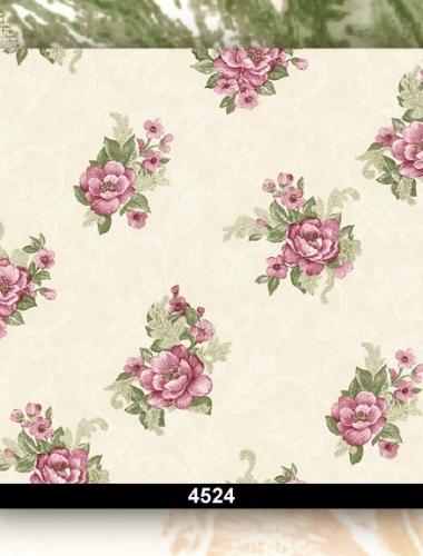Tapet dantela cu flori mov pentru dormitor si living 4524