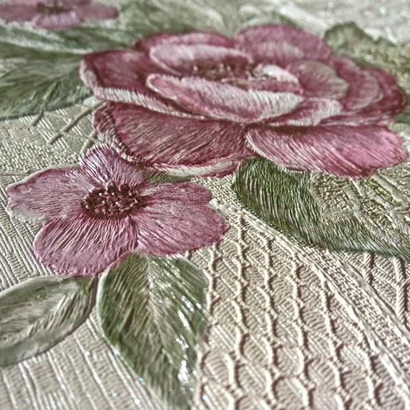 Tapet dantela model floral pentru dormitor si living gama UNICA 1 BLISS ART