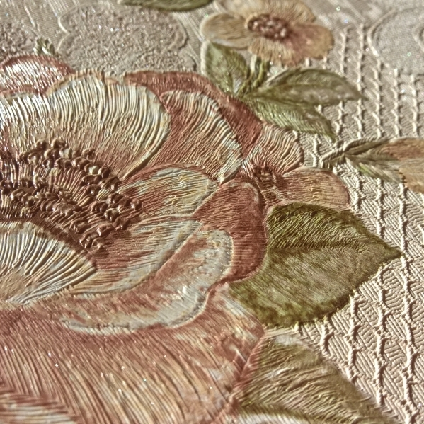Tapet dantela model floral pentru dormitor si living gama UNICA 6 BLISS ART