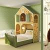 Tapet lavabil verde pentru copii gama CIAO BIMBI