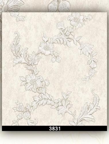 Tapet lavabil alb cu trandafiri aurii gama DESIDERIA cod 3831