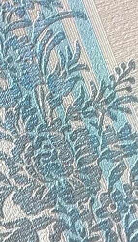Tapet lavabil clasic cu flori albastre gama DESIDERIA