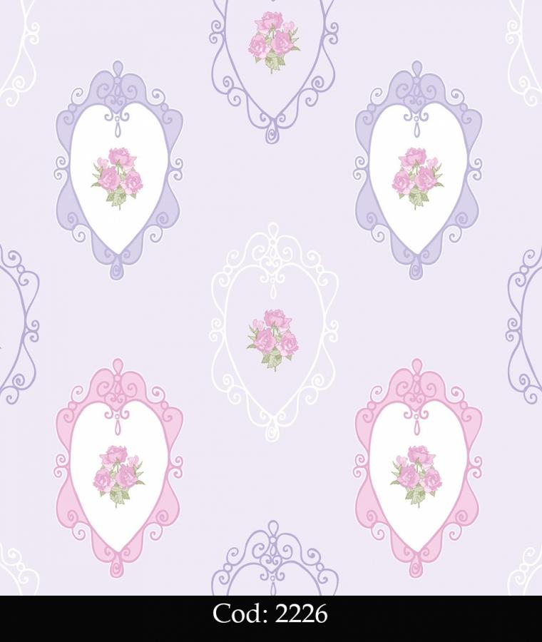 Tapet lavabil copii cu trandafiri roz cod 2226 gama BIM BUM BAM - BLISS ART